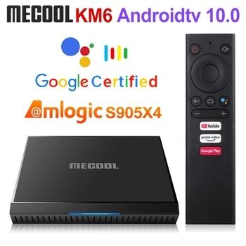 Mecool KM6 Amlogic S905X4 TV Box Android 10 2GB 16GB Wifi 2.4G&5G BT5.0 Google Certified Support AV1 USB3.0 100M Netflix Account Electronics Android Tv