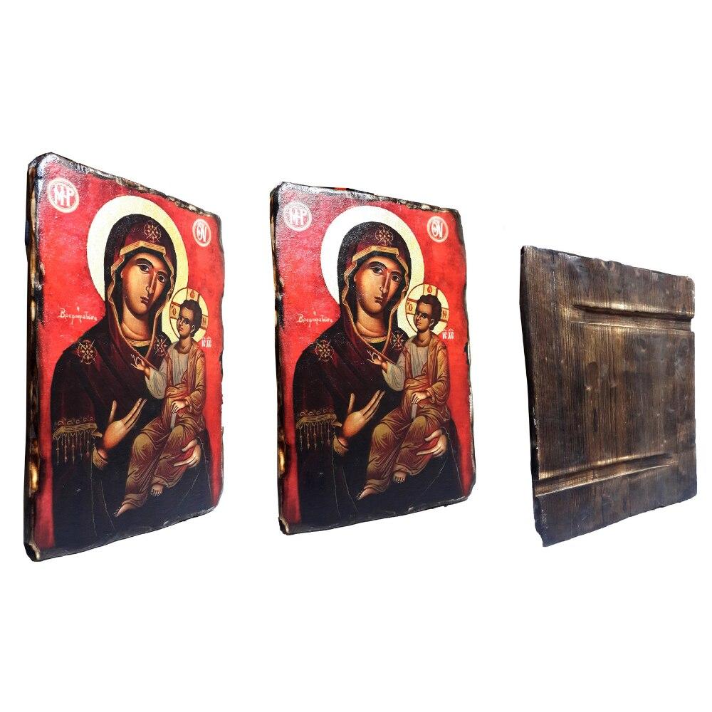 Virgin Mary Orthodox Replica Byzantium Hagia Sophia Icons Churches Home Decoration Accessories Noel Christmas Yule Gold Leafs