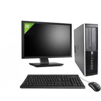 HP Elite 8200 SFF cheap full desktop computer i5 - 2400   8GB RAM   500HDD   DVD   WIFI   WIN 10 PRO + TFT 20