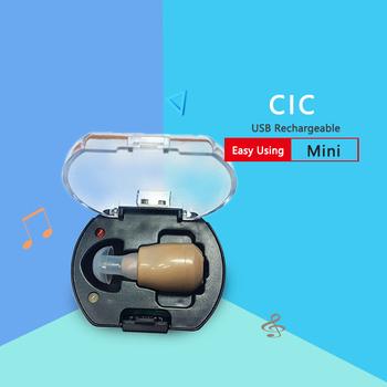 Laiwen akumulator aparat słuchowy Mini wzmacniacz słuchu wzmacniacz dźwięku do ucha aparaty słuchowe akumulatorowe aparaty słuchowe tanie i dobre opinie Chin kontynentalnych 900B rechargeable 7Hours 128db 31db 1 5v rechargeable hearing aid digital hearing aid cic hearing aids