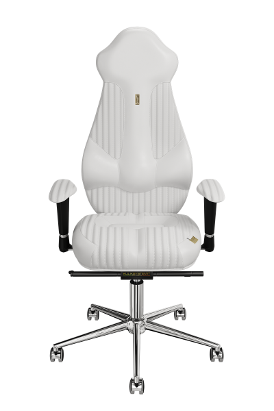 Office Chair KULIK SYSTEM IMPERIAL White Computer Chair Relief And Comfort For The Back 5 Zones Control Spine