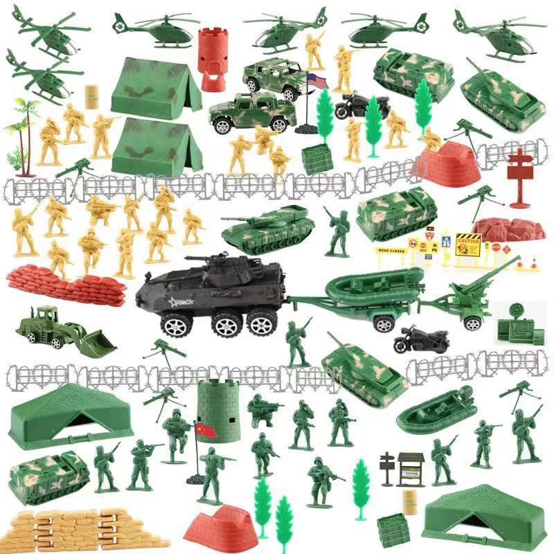 Novel and Strange Toy Sand Table of Children 39 s Military Base Soldier Suit Model Mini Army War Military Morning E in Action amp Toy Figures from Toys amp Hobbies