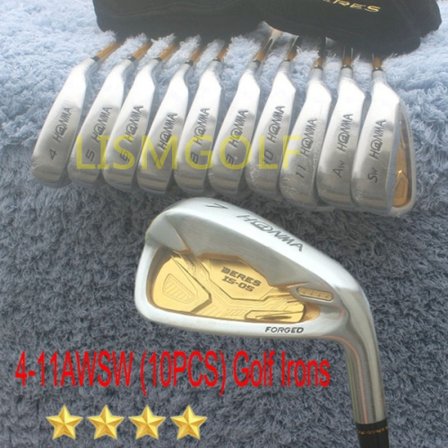 Nouveaux Clubs de Golf honma BERES IS-05 fer à repasser Golf fers forgés fers de Golf 4-11AWSW (10 pièces) R/S/SR Flex acier/Graphite
