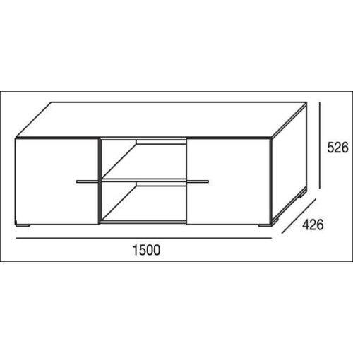 Mueble de salón completo, color cambrian y blanco, muebles de TV, apilables ref-182 2