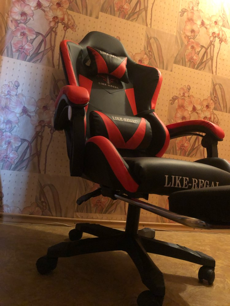 Computer chair Multi Purpose Fashion Home Office Leisure Chair with footrest-in Office Chairs from Furniture on AliExpress