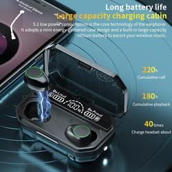 Светодиодный ные наушники-вкладыши PK M11 M12, Bluetooth V5.1, 3500 мАч