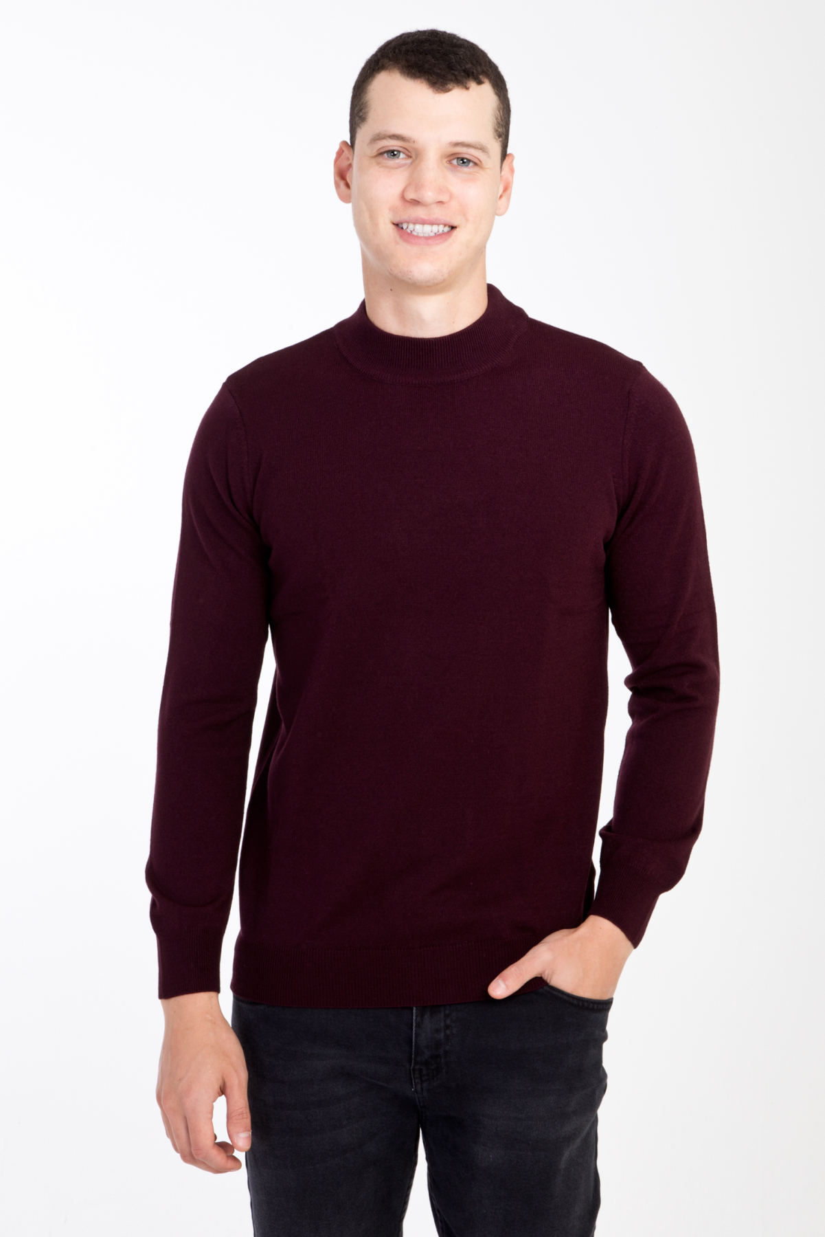 Kigili Round Neck Sweater Autumn Winter High Quality Warm Cool Long Sleeve Pullovers Men Solid Outwear Fit Knitting Clothing