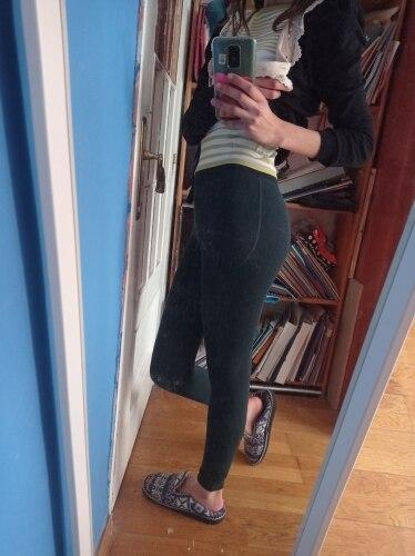 Women's High Waist Cotton Leggings photo review