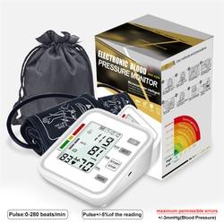 Automatic Tonometer Digital Blood Pressure Meter for Measuring Arterial Pressure Cuff Sphygmomanometer Upper Arm BP Tensiometro