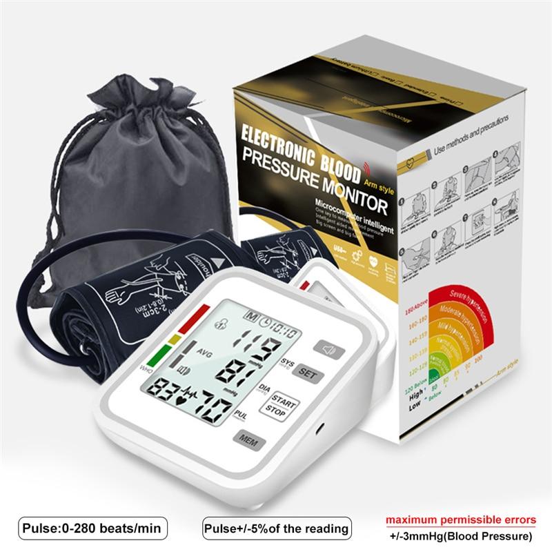 Otomatik tonometre dijital tansiyon ölçer ölçmek için arteriyel manşet tansiyon aleti üst kol BP Tensiometro tansiyon aleti