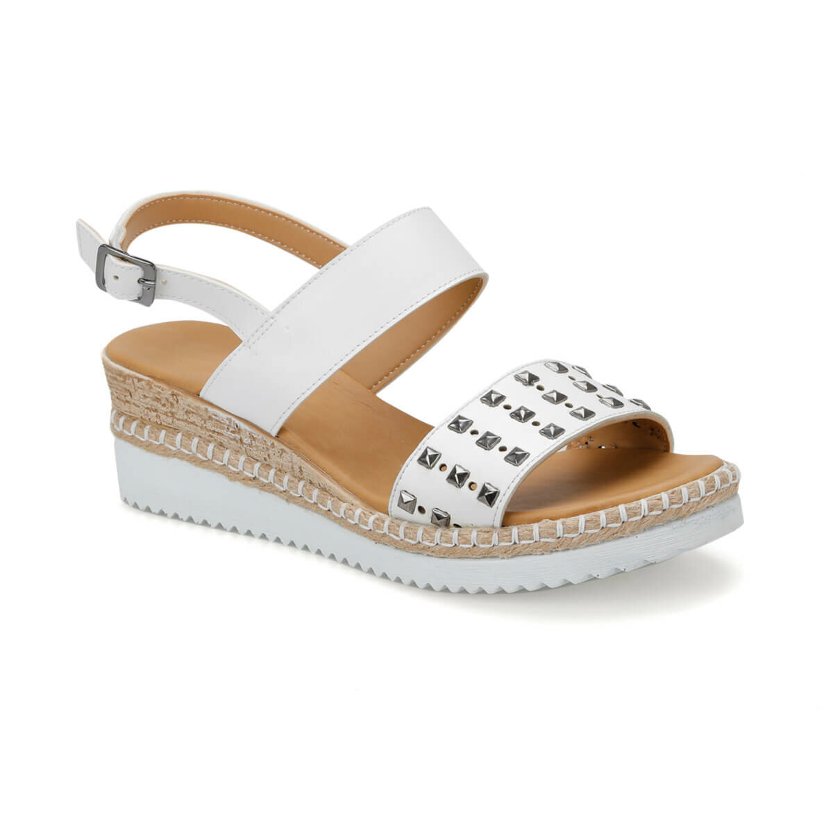 FLO CS19132 White Women Sandals Art Bella
