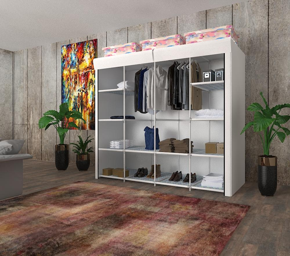 Home-Furniture Wardrobe Closet Cabinet Folding Dust-Proof Multi-Purpose Non-Woven-Fabric title=