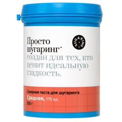 Pasta de azúcar depilatoria medio just shugaring, 0,33 kg