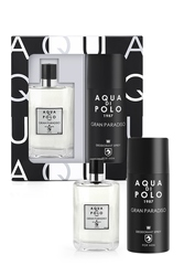 Aqua Di Polo 1987 Gran Paradiso hombre Perfume Spray juego de desodorante