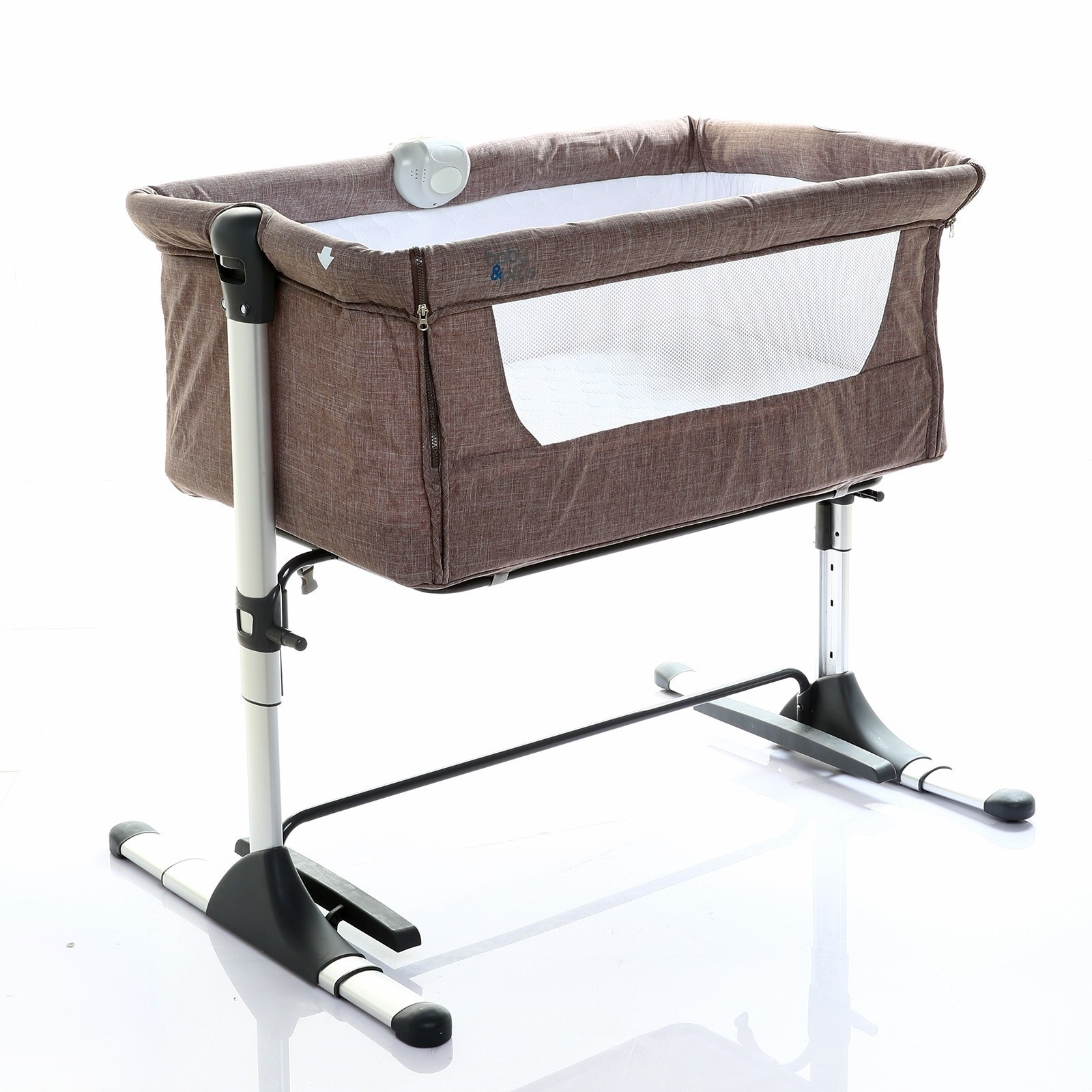 Ebebek Baby&plus Safe Side Bedside Cradle - Brown