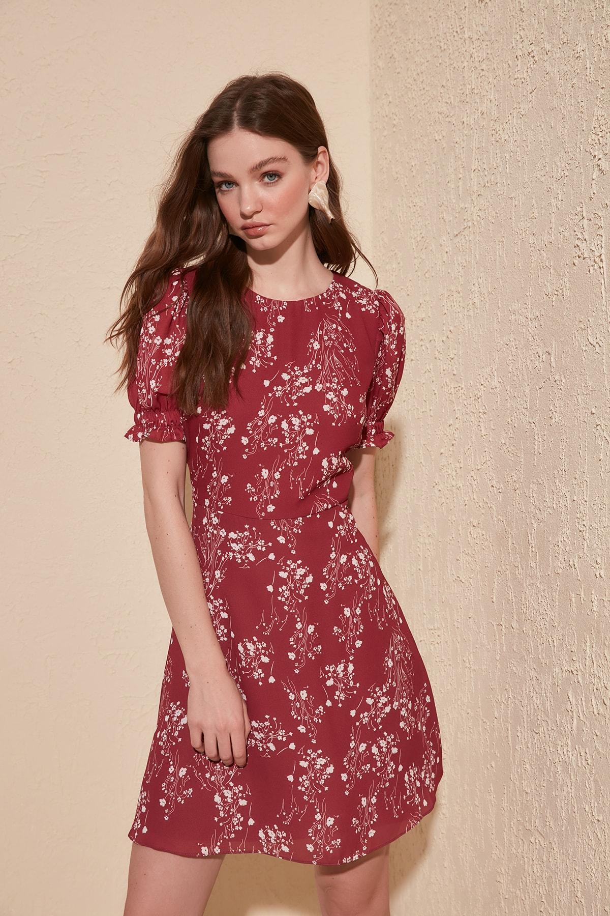 Trendyol Patterned Dress TWOSS20EL1033