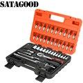 SATAGOOD 46 Pcs Auto Reparatur Werkzeug Ratsche Drehmoment Steckschlüssel Spanner Kombination Hand Tool Set G-10026