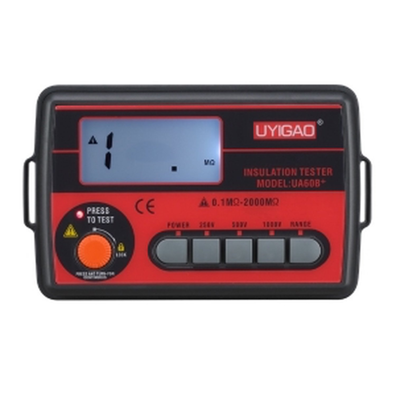 UYIGAO UA60B + Digital Insulation Resistance Tester Megaohm Poke DC250/500/1000 V AC750V 0.1 ~ 2000M fast arrival dy3166 analog insulation resistance tester 2000m ohms 1000v