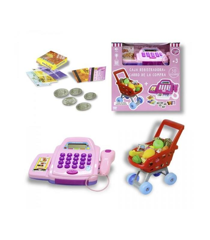 CASH REGISTER WITH SHOPPING CART Toy Store Articles Created Handbook
