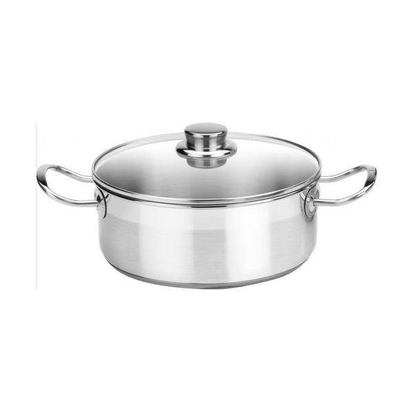 Casserole With Glass Lid Balay 3CC0024X (24 Cm) Stainless Steel