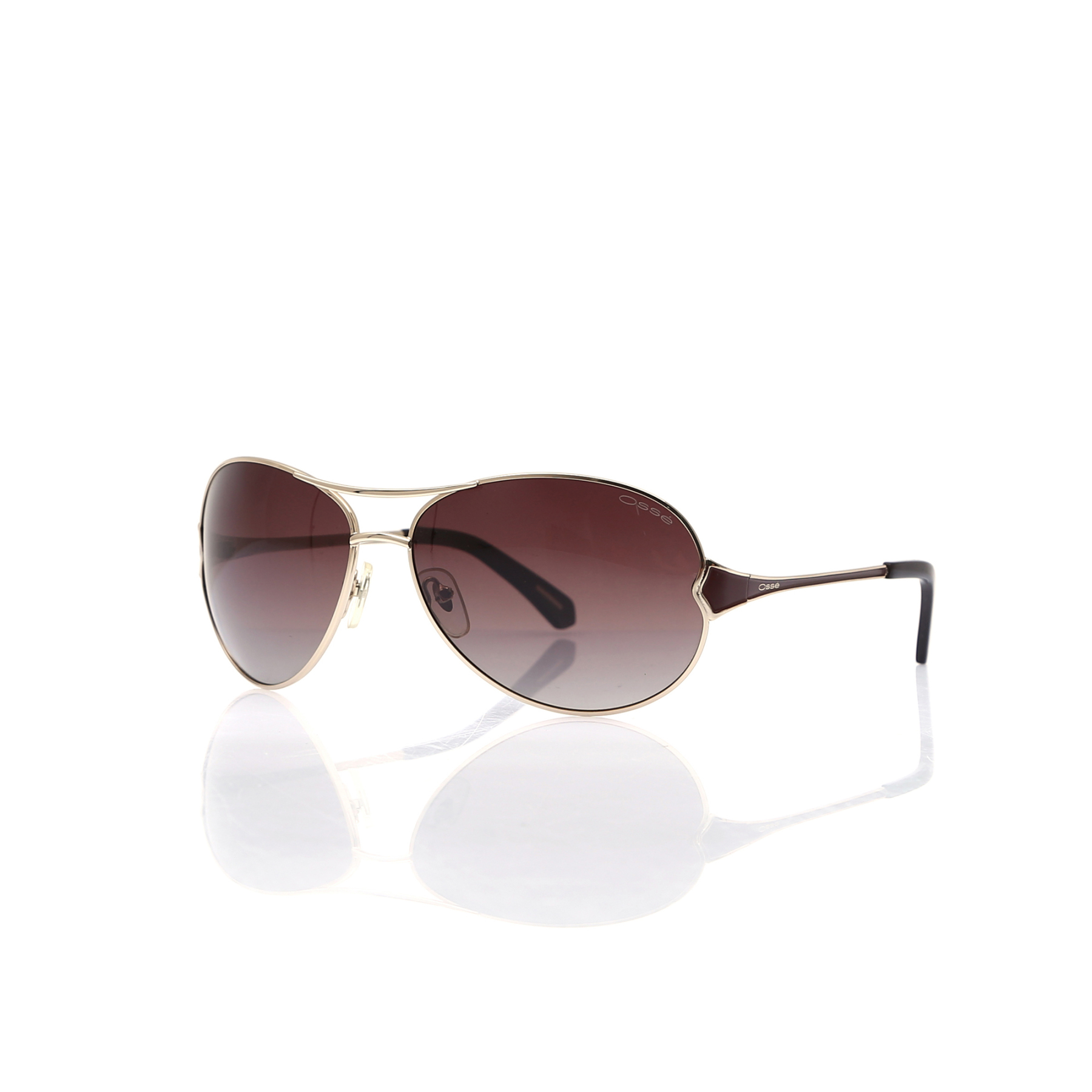 Women's sunglasses os 1585 02 metal gold organic oval aval 64-15-125 osse