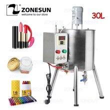 ZONESUN ruj ısıtma karıştırma dolum makinesi karıştırma hazne ısıtıcı tankı sıcak çikolata için mum boya el yapımı sabun Fillier