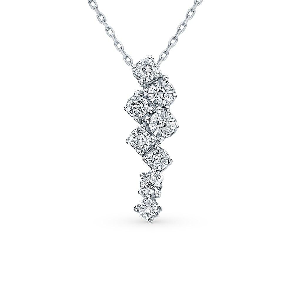 Gold Pendant With Diamonds Sunlight Sample 585