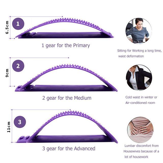 1pc Back Stretch Equipment Massager Massageador Magic Stretcher Fitness Lumbar Support Relaxation Spine Pain Relief Dropshipping