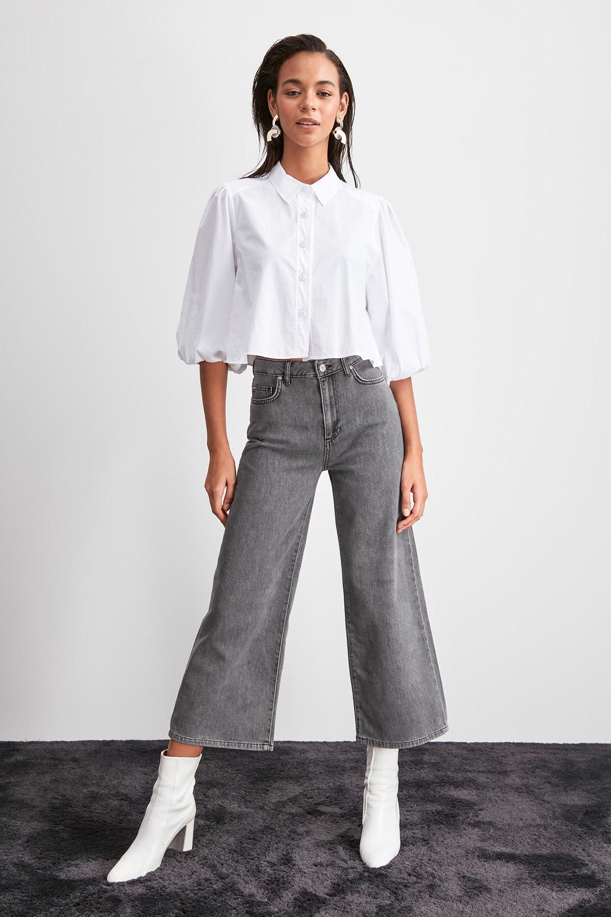 Trendyol High Waist Culotte Jeans TWOAW20JE0395