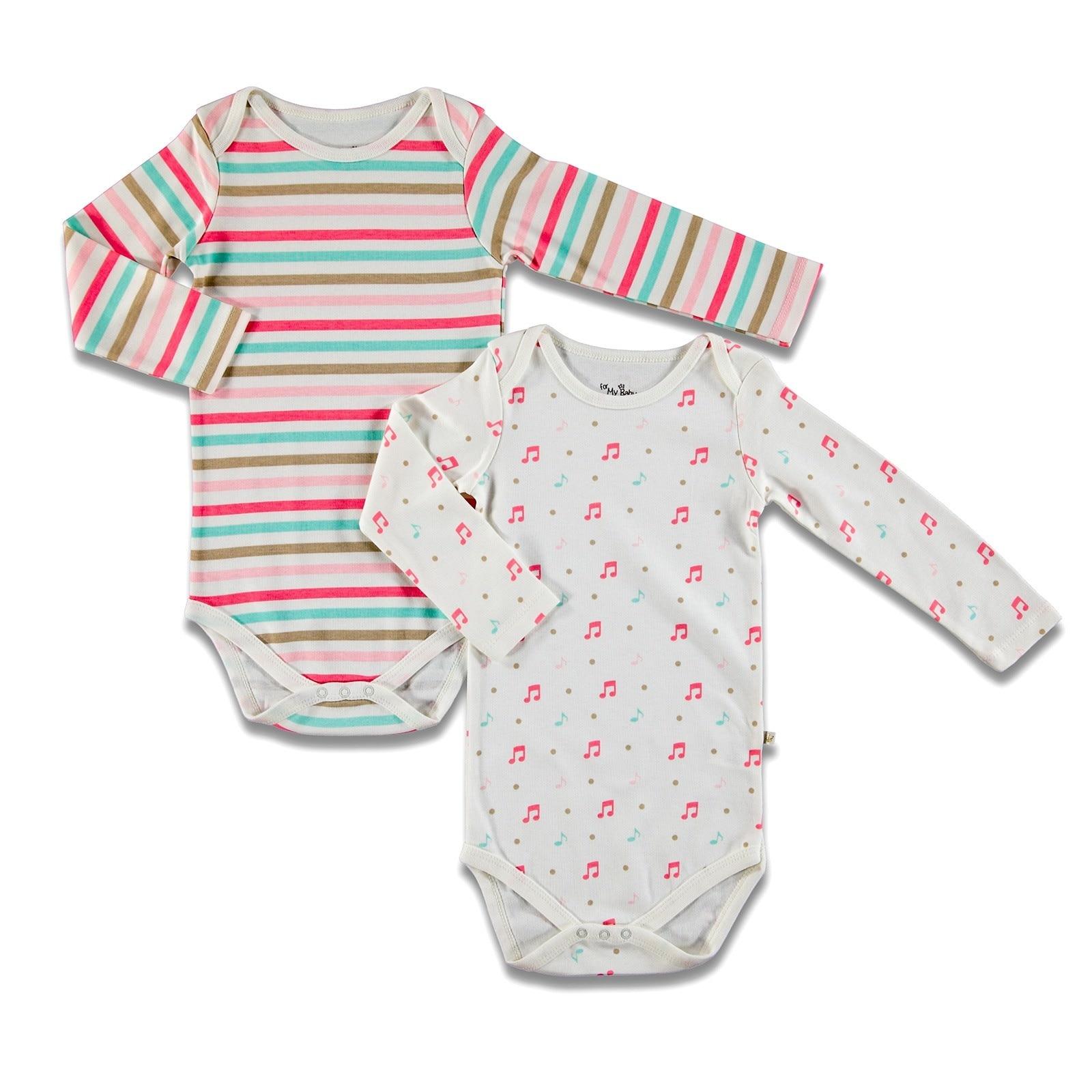 Ebebek For My Baby Yummy Long Sleeve Bodysuit 2 Pcs