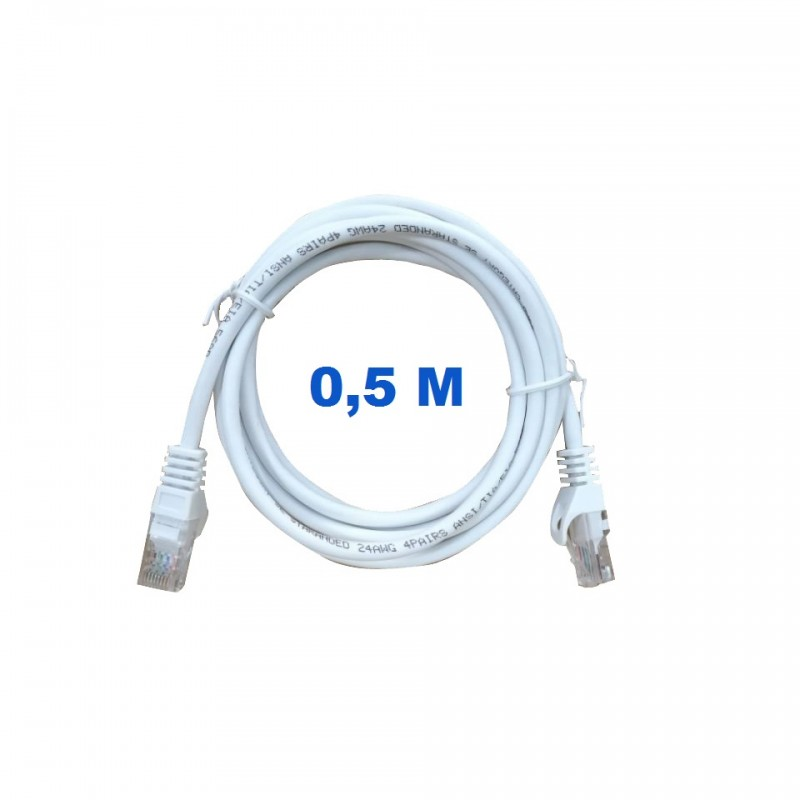 UTP Cord 0,5 Meters Without Shielding With RJ45 Connectors Category 5E.