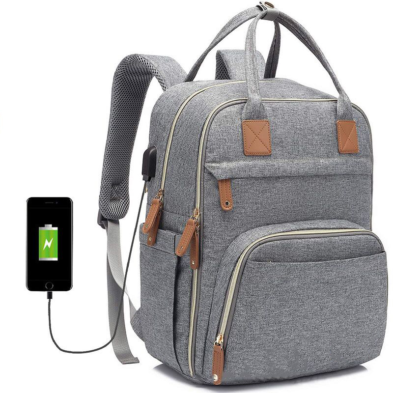 Diaper Bag Backpack Multifunction Travel Back Pack USB Port Maternity Baby Changing Bags Nappy Mother Bag