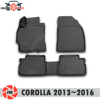 Floor mats for Toyota Corolla 2013~2016 rugs non slip polyurethane dirt protection interior car styling accessories