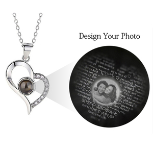 Image 1 - AILIN Customize Photo Pendant Necklace Women Romantic Wedding Jewelry 100 Languages I Love You Pictures Necklace Christmas Gift
