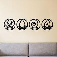 Metal Wall Art, Four Elements Metal Wall Decor, Home Decor, Interior Decoration, Metal Sign, Housewarming Gift, Nature Art