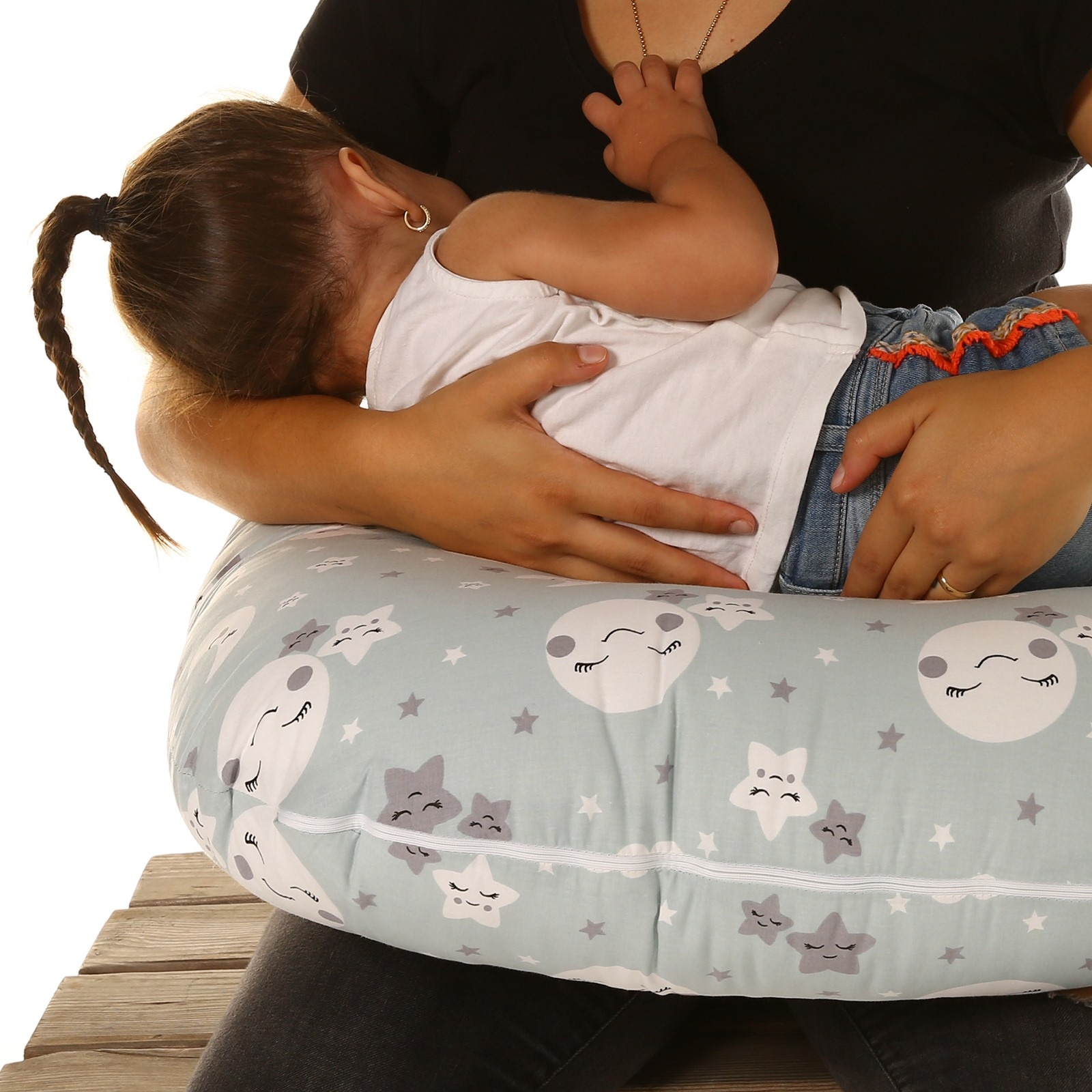 ebebek baby&plus Feeding and Infant Support Pillow Cotton Sky Patterned 0-12 Months