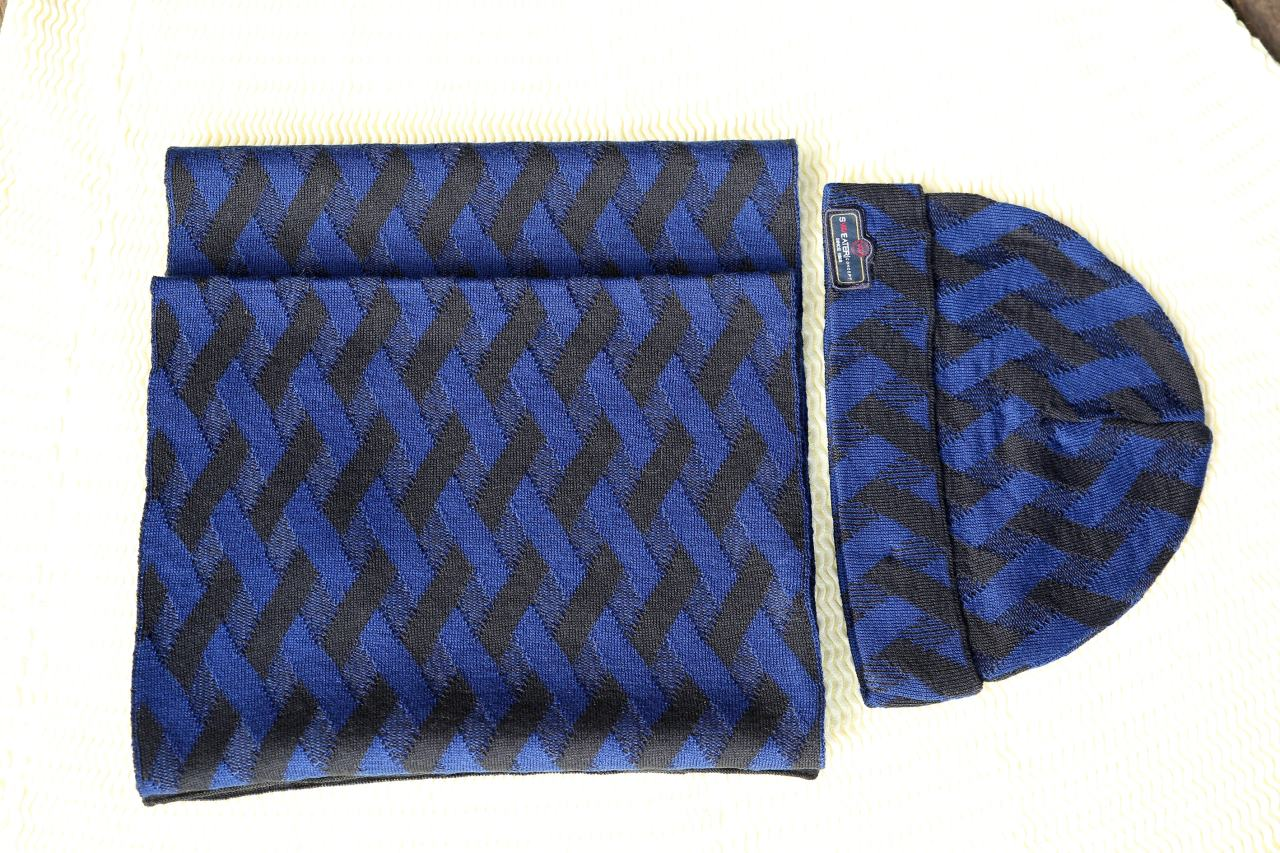 Sweater Çizli Braided Beret 3839