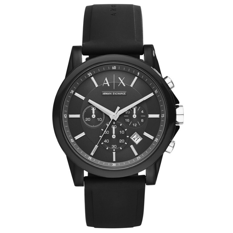 Original AX Armani Exchange <font><b>Unisex</b></font> Chronograph Silicone Watch Top Brand Luxury Set Quartz watch 30m. Waterproof AX1326 image