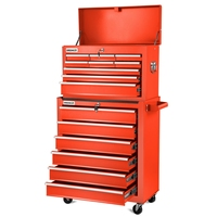 Trolley tools GREENCUT Red color  box Mobile Tools 4 wheels with 16 drawers  Furniture Storage garage Hand Tool Sets     -