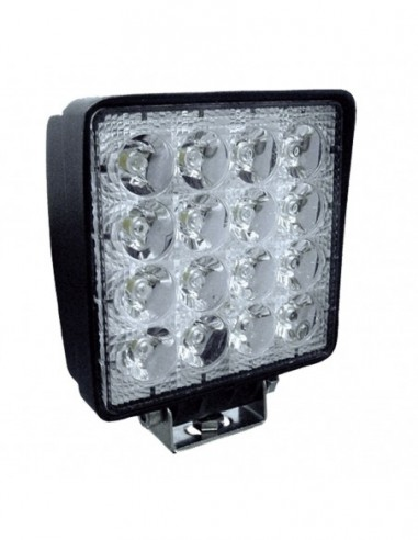 JBM 53045 HEADLIGHT HEADLAMP WORK 16 LEDS 48W SQUARE STRAY LIGHT