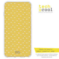 FunnyTech®Silicone Case for Samsung Galaxy Note 10 Plus L yellow Background polka dot
