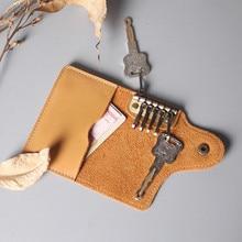 Кожаный держатель для ключей, чехол для ключей ручной работы для мужчин и женщин, органайзер для ключей, кошелек для ключей, держатель для кл...