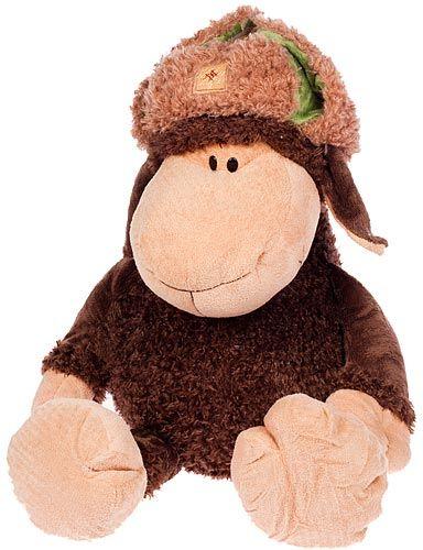 Мягкая игрушка Supertoys Овца коричневая в шапке, 80 см