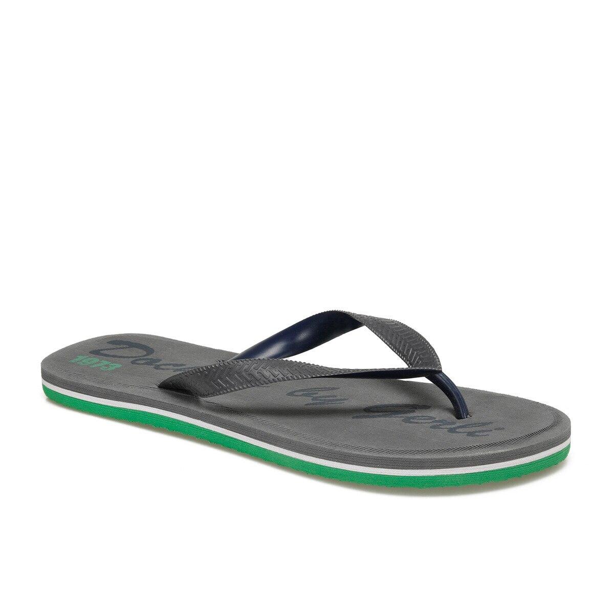 FLO 224599 Dark Gray Men 'S Thong Slippers By Dockers The Gerle