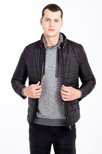 Image 1 - Kigili Menswear Autumn Winter Warm Casual Slim Fit Quilted Polyester High Quality Coats Made in Turkey Mens Blend Hood Coat