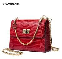 Designer bag on the chain bison denim n1415