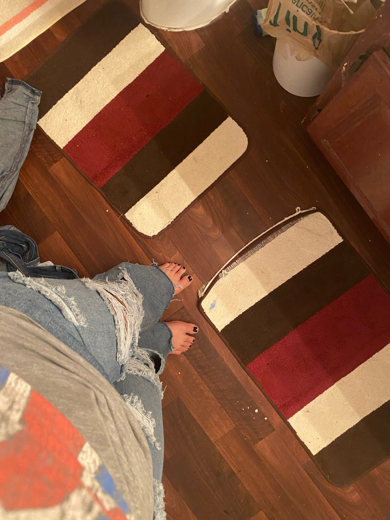 Harajuku Y2K Loose Ripped jeans with high waist photo review