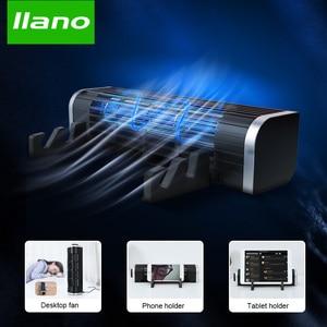 Image 1 - LLANO Base Notebook Stand Cooling Rad Speed Adjustable Notebook Cooler Desk Fan Laptop Cooler Stand Computer Tablet Phone holder