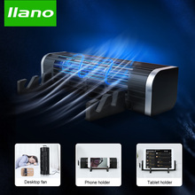 LLANO Base de refrigeración para portátil enfriador ajustable de velocidad, ventilador de escritorio, soporte de refrigeración para ordenador, tableta y teléfono