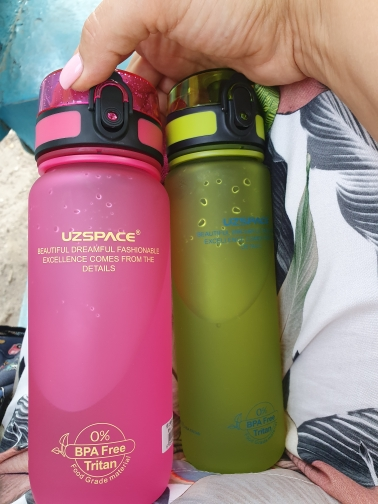 Sports Water Bottles 500/1000ml Shaker Leakproof Gourde Camping Hiking Drink Bottle for water Tritan Plastic Drinkware BPA Free-in Water Bottles from Home & Garden on AliExpress